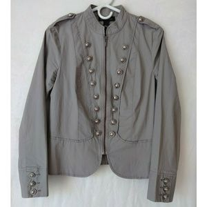NWOT INC Zip up Military Jacket